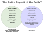 "Roman Catholic teaching on ""the fullness of the faith""."