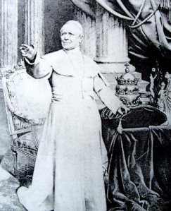 "Pope Pius IX, ""infallible under certain conditions""."