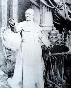 "Pope Pius IX, ""infallible under certain conditions""."